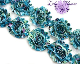 Shabby Rose Trim - Shabby Flower trim - Shabby Flower - Chiffon Flower - A102 - Shabby Chic - Rose Trim - Wholesale