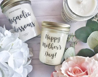 Gift Soy Candle 8oz |Soy scented Candle| Grapefruit Mint|English Garden|Coffee| Gift for mom|For Her| New Mom|Mothers Day Gift| Housewarming