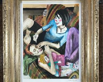 Clowning Around (original framed painting)