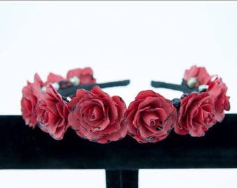 Hair accessory  from cold porcelain !