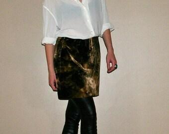 Moving Sale SALE- Rad Tie-Dyed Velour Mini-Skirt-Size M/L