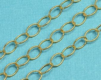 14k/20 Gold Filled 5.7mmx8mm Twisted Cable Oval Bulk Chain 5 FEET