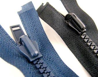 "Reversible Chunky Plastic Open End Zip - 56cm - 76cm (22"" - 30"")"