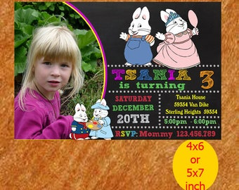 Max And Ruby Birthday Invitation, Max And Ruby Invitation, Max And Ruby Birthday, Max And Ruby Party, Max Ruby Printable, Instant Download