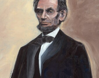 """Abraham Lincoln Poster: """"Words to Learn By"""" """"With malice toward none,  with charity for all...."""""""