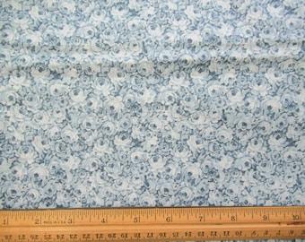 Blue Roses - Peter Pan Fabrics - 1.5 Yards B-1-38