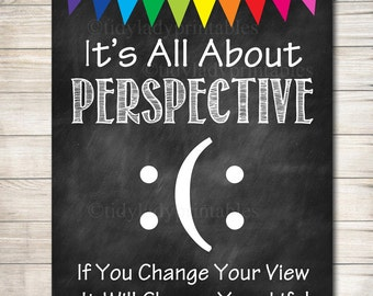 Guidance Counselor Office Decor, Classroom Decor, High School Classroom  Poster, All About Perspective