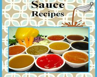 1436 Sauce Recipes E-Book Cookbook Digital Download