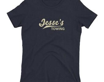 Jesse's Towing women's t-shirt -- Orphan Black prop replica, Helena Sestras, boyfriend