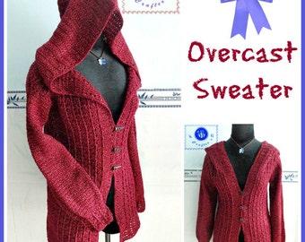 Overcast sweater pdf crochet pattern ( size S - 3XL )
