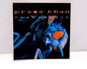 Praga Khan Sticker - Pragamatic 1998 Vintage Techno DJ Electronic Drum n Bass Big Beat Breaks EDM Maurice Engelen Mohawk Music Record Store