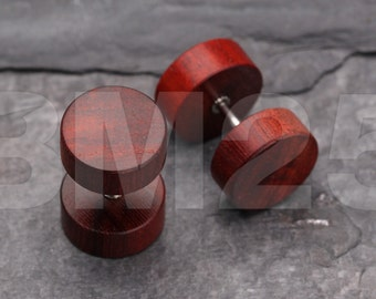A Pair of Cherry Wood Fake Plug