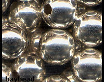 8mm Silver Plated Round Beads (100 pieces)