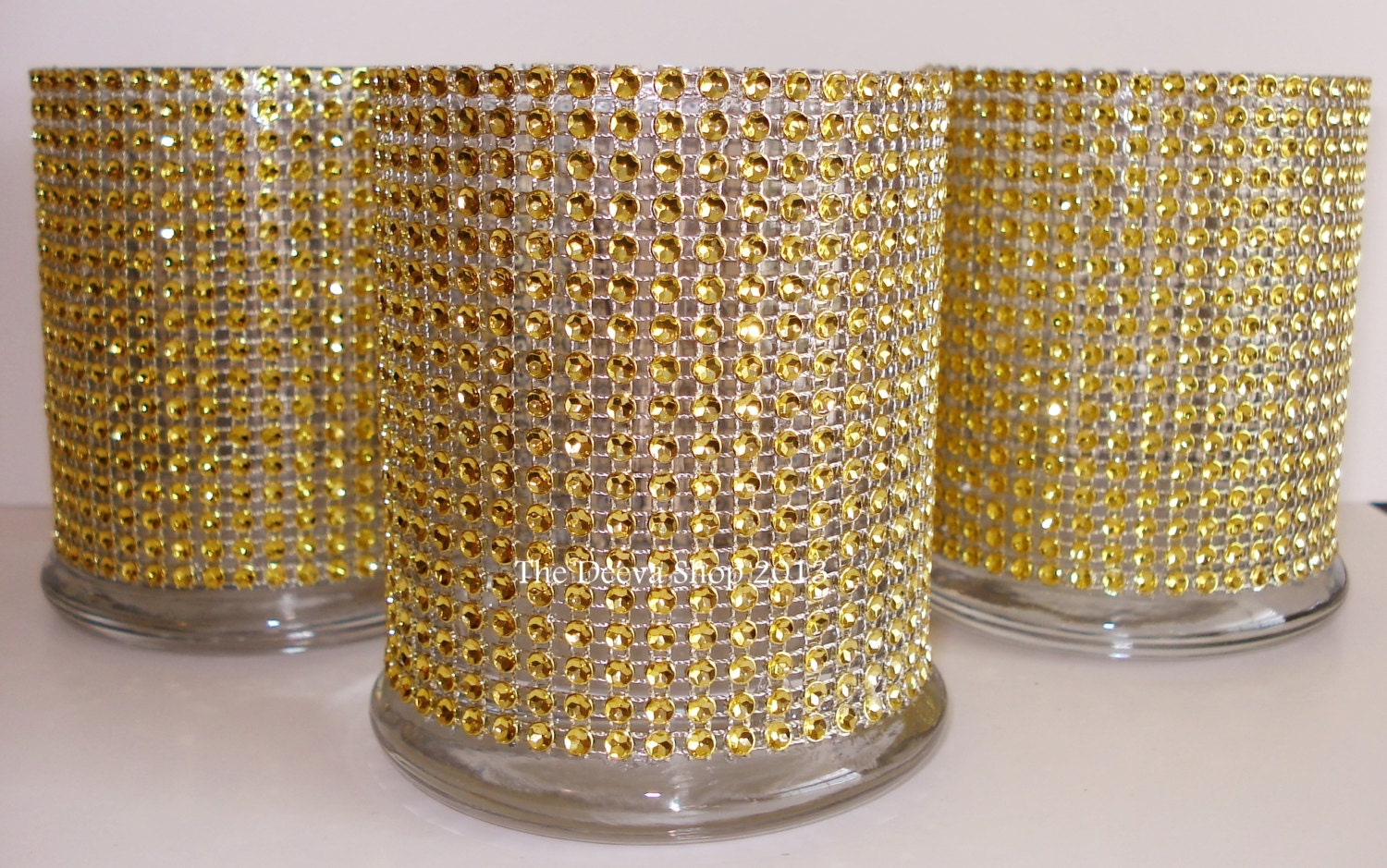 Glass cylinder vases gold bling wedding th anniversary
