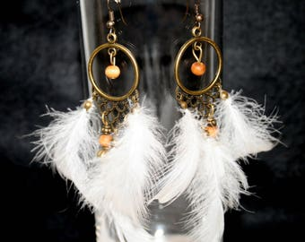 "Earrings feathers ""Indian style"""
