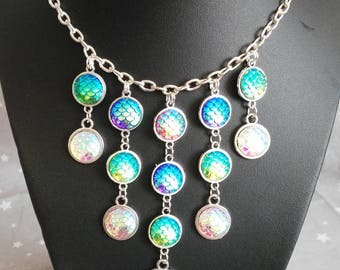 """Necklace """"Cascade of scales"""""""