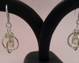 Sputnik Crystal Drop Earrings