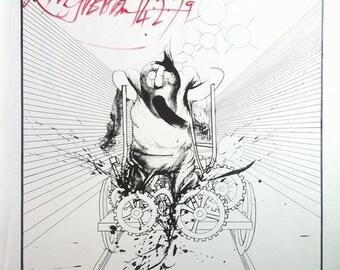 Ralph Steadman Original Hand-Signed Silkscreen Print