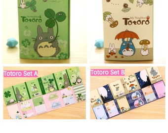 Totoro Stationery Set: memo and sticky post-it pads Made in Korea Studio Ghibli