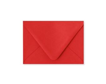 Rouge A2 enveloppes, 5.75x4.375, enveloppes, papier Source Pointed Rabat enveloppes, vendu par lot de 10