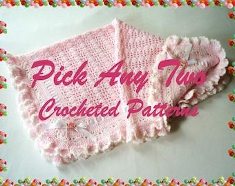 Pick Any 2 (Two) Crochet Patterns PDF