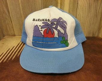 "90s ""Bahamas Mesh back snapback hat!"