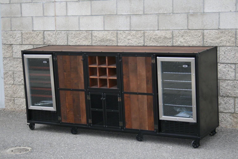 Rustic Liquor Cabinet Beverage Center Rustic Industrial