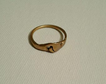 1970s Gold and Bronze Handmade Friendship Ring