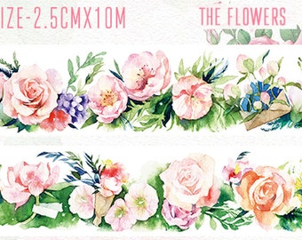 1 Roll of Limited Edition Washi Tape- The Flowers