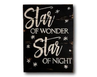 Star of Wonder Wood Christmas Sign- Christmas Decoration- We Three Kings Wood Christmas Sign- Christmas Mantel Decor- Christmas Gift-