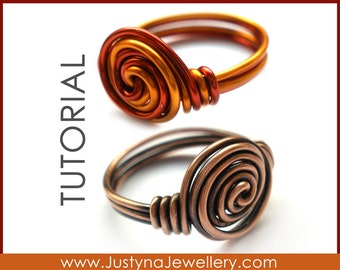 Spirale Ring Tutorial Wire Wrapping Ring Tutorial Rosette
