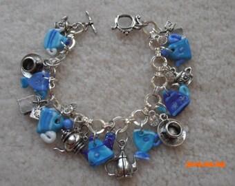 IT'S TEA TIME Glassblown Charm Bracelet