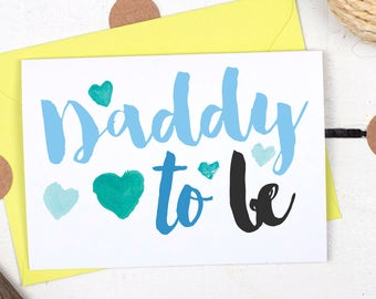 Daddy To Be Card - First Father's Day Card for Dad - Birthday Card For New Dad - New Dad Card - Card for Dad to be - Father's Day Card