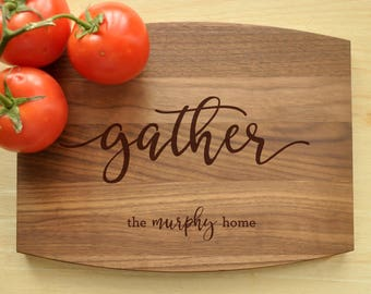 Custom Cutting Board - Engraved Cutting Board, Personalized Cutting Board, Wedding Gift, Housewarming Gift, Gather Cutting Board, Gather