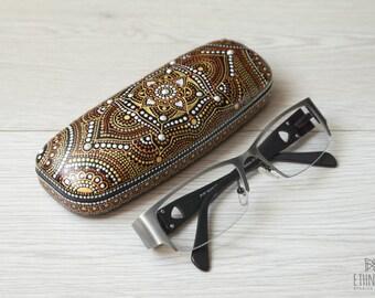 Hard eyeglass holder Mandala Eye glasses holder Women glasses case Gift for women Gift for mother Grandma glasses gift Spectacle case