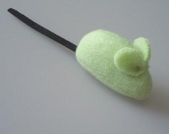 Catnip Mouse Cat Toy Pistachio Green Fleece