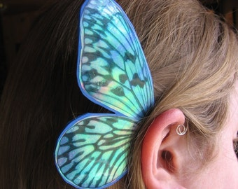 BUTTERFLY Blue Stripe/ Fairy Ear Wings