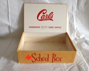 Vintage School Box Carls Drug Stores Greencastle PA 1960s