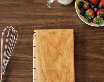 Custom Recipe Book - Wood Covered Recipe Book - Heirloom Keepsake Recipe Book - Housewarming Gift - Bridal Shower Gift - Personalized