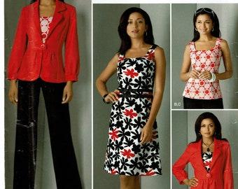 Simplicity Pattern 0594 Misses Jacket, Pants and Dress or Top Size U5 (16-24) UNCUT