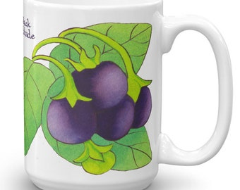 Black Nightshade Coffee Mug - Witchy Gifts For Kitchen Witches