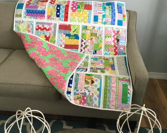 Baby Quilt Cotton Quilt Crib Bedding Girl Toddler Quilt Mat For Baby Car Seat Blanket Baby Blanket Girl Picnic Quilt