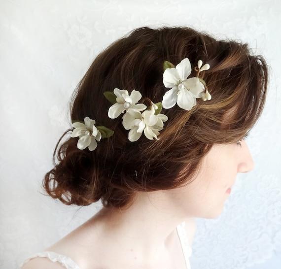 Bridal hair flower pearl bridal hair pins pearl white flower mightylinksfo