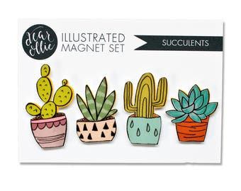 Succulents - Magnet Set of 4