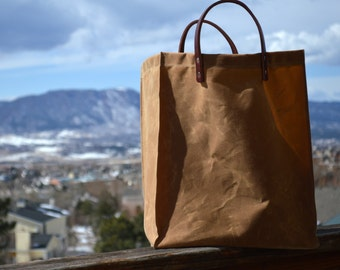 Waxed Canvas Shopper