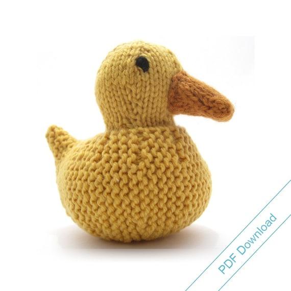 Toy Knitting Pattern Knit Your Own Mallard Duck Digital