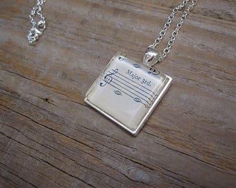 Musician Necklace - Major 3rd C-E - Gift for Musician