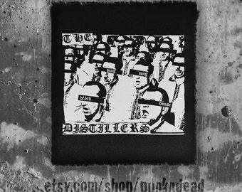 The Distillers Sing Death House  •Street Punk  • Hardcore Patch • punk clothing • punk patches • punk aufnäher • custom patches