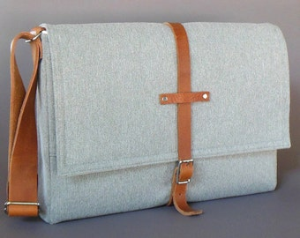 "11"" / 13"" MacBook Air messenger bag - light gray"