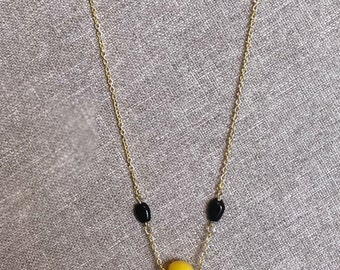 Trending gold beaded chain necklace